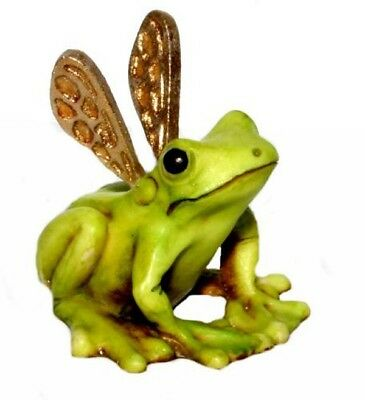 Harmony kingdom artist Neil Eyre Designs Tree Frog Fairy gold wings LE66