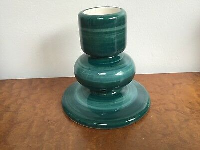 Vintage Jersey Pottery  Candlestick Jade Teal Colour