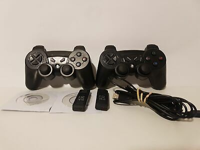 CSL – 2 x Wireless USB Gamepad für PS3/Playstation 3 | inkl. Dual Vibration |...