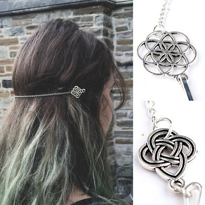 Women Vintage Girl Hair Clip Celtic Knot Hair Pin Hair Jewelry Accessories Punk