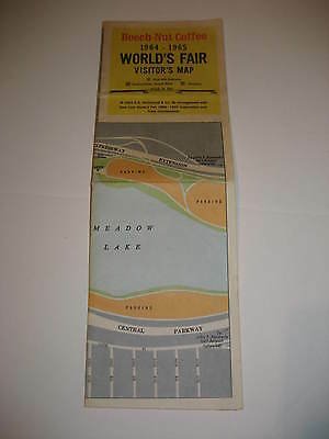 1964-1965 NY World's Fair Visitor's Map by Beech Nut Coffee
