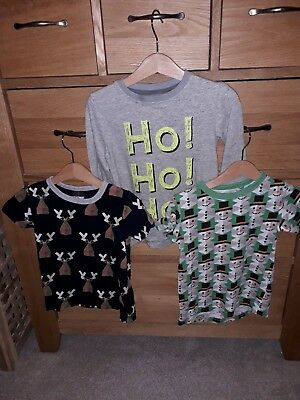 Next Toddler boys Christmas Tops bundle Age 18-24 Months