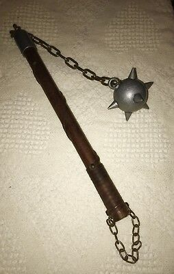 Medieval Gladiator  Battle Mace Double Spiked Ball Fighting Weapon