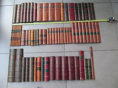 Antique fake, faux, false, leather book spines X approx 3 metres