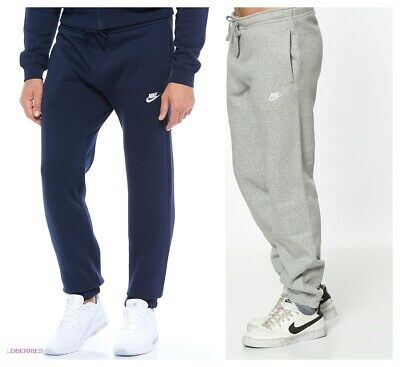 Nike Mens Navy Sweat Pants Jogging Jog Bottoms Joggers Grey Black Standard Fit