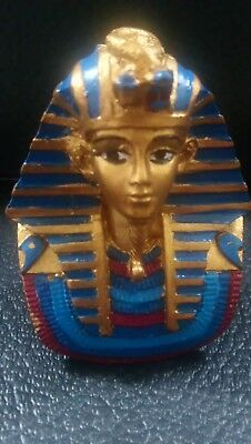 Large Egyptian Pharaoh King Tut Bust Mask Statue Tutankhamun Figurine