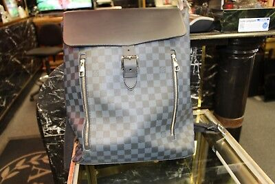 Louis Vuitton Backpack Mint Condition Blue And Black