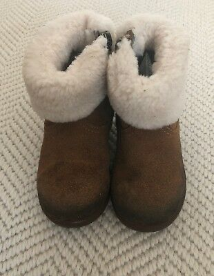 Ugg Girl Winter Boots T Jodie II In Chestnut Brown June UK Size 5 RRP£55 Used
