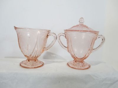 Sharon Rose Cabbage Creamer and Sugar Dishes