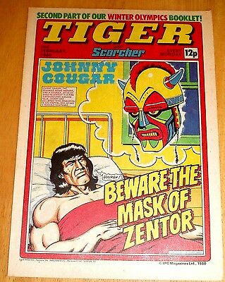 Tiger Comic 1980 With  W.b.a.   Team Colour Centrefold Poster