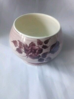 Moorcroft - Small Pedestalled Bowl - Biscuit Colour with Brown Flowers- A 9
