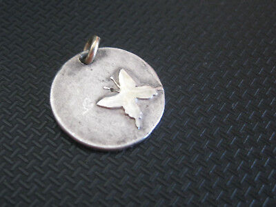 sterling silver jewelry 925  PENDANT      WITH BUTTERFLY    MARKED