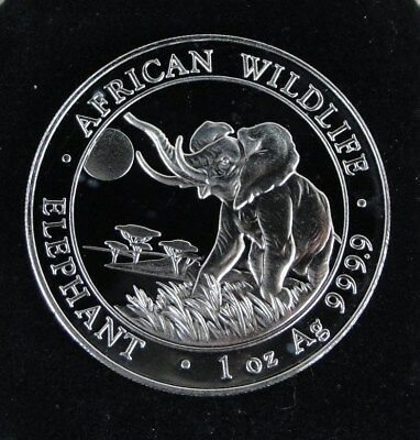 2016 Somalia 100 Shillings African Wildlife Elephant 1 oz .9999 Silver Coin #2