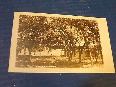 early 1900's  real photo Chataqua Grounds Beloit Kansas