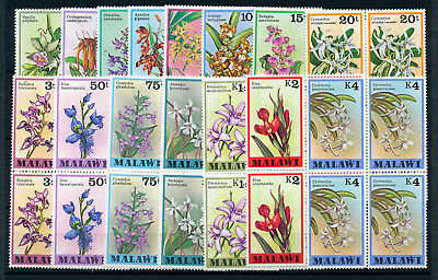 Malawi 1979 Definitives Sg577/591 Orchids Blocks Of 4 Mnh
