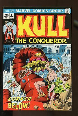 KULL THE CONQUEROR #6 NEAR MINT- 9.2 1973 MARVEL COMICS #stp-185