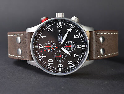 ASTROAVIA XL AIR CRAFT 20L-2 NEW EDITION TOP- CHRONOGRAPH 44mm FLIEGERUHR N57S