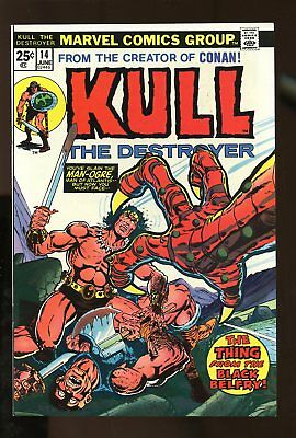 KULL THE CONQUEROR #14 NEAR MINT 9.4 1974 MARVEL COMICS #stp-193