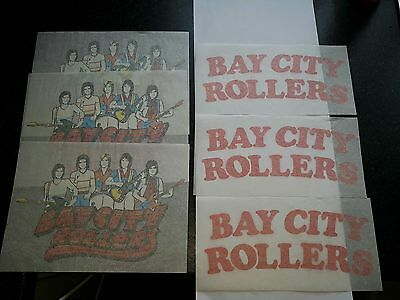 6 VINTAGE/RETRO BAY CITY ROLLERS IRON ON T-SHIRT TRANSFER PRINT SHOP STOCK 70s