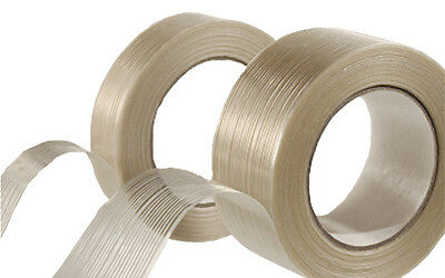 "24 Rolls of 1 1/2"" x 60 YDS Fiberglass Reinforced Filament Tape - 6089740"