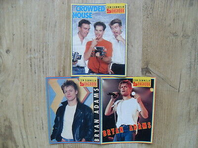 3x BRAVO Songbook CROWDED HOUSE Don't Dream It's Over BRYAN ADAMS Hearts On Fire