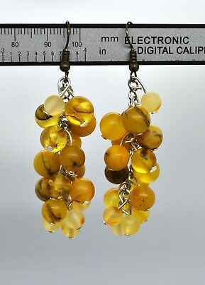 Natural Baltic Amber Earring Unique Amber Gift for her