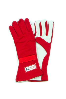 RJS Safety 600010405 Driving Gloves Double Layer  - Pair - SFI-3.3/5 Red - L