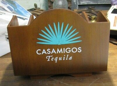 Casamigos Tequila   Wooden Caddy Bar Display  New In Box