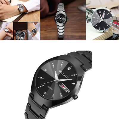 Luxury Wrist Watch & Stainless Steel Calendar Dial Analog Quartz Watch