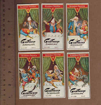 PUPPET THEATER: Set of Rare GARTMANN CHOCOLATE Cards from GERMANY (1920)