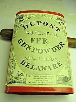 Vintage Old Dupont Powder Empty Can/very nice