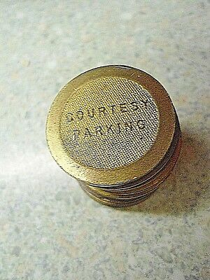 Lot of 12 Brass Courtesy Parking Tokens Card Key System