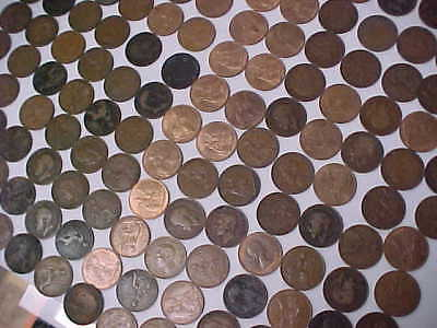 1896 - 1967 Great Britain 143 Pc Large Cent Penny Many High Grade 30's & 40 's