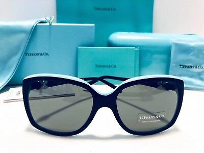 63e70fd9a30d TIFFANY   CO Women s TF4076 4076 8134 3B Tortoise Blue Signature ...