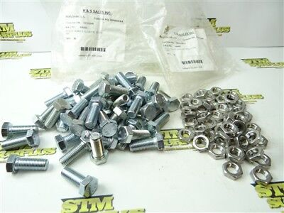 New Lot Of Steel Metric Hex Head Bolts M16 X 2.0 X 40 + Stainless Jam Nuts