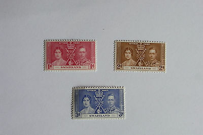 George Vi 1937 Coronation Swaziland  Un Mounted Mint