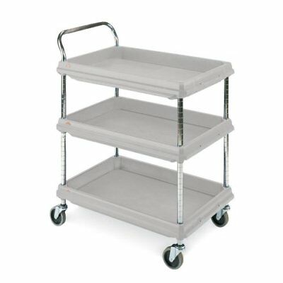 Metro Deep Ledge Series Polymer Utility Cart with 4 Swivel Casters, 3 Shelves, x