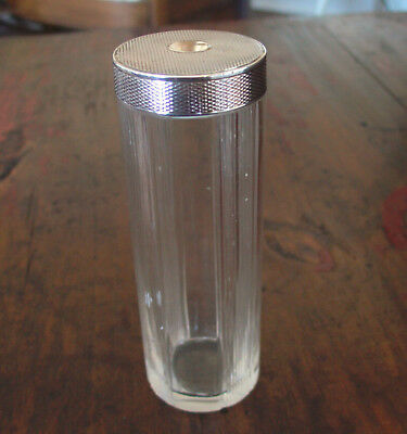 France, Crystal and Sterling Vanity Brush or Talcum  Holder, L. Dupont.