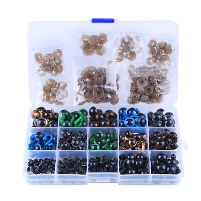 1X(264 Pieces Plastic Safety Eyes with Washers for Doll, Puppet, Plush Anim Q8L5