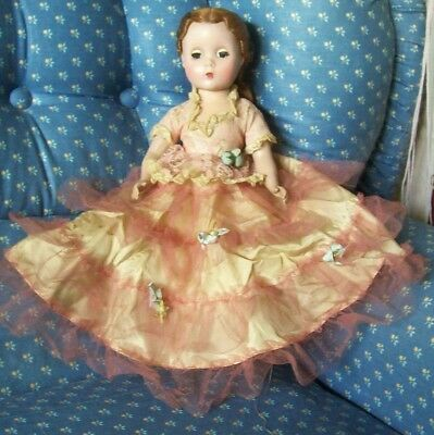 "Old 14""  Unmarked Madame Alexander Doll, Original Outfit"