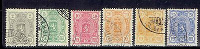 Finland, Russia Empire, Used Stamps 1889-90, Lot No. 3