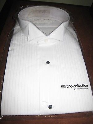 Men's Tuxedo Shirt, Martino Collection by Henry Segal, Wing Collar, Classic Fit