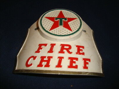 Vintage Texaco Fire Chief Hat Badge Toy