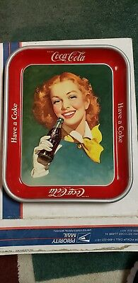 1948 DRINK COCA COLA Red Hair Girl Serving Tray. Excellent Condition!