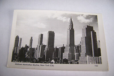 Rare Vintage Or Antique RPPC Real Photo Postcard A4 New York Midtown Manhattan