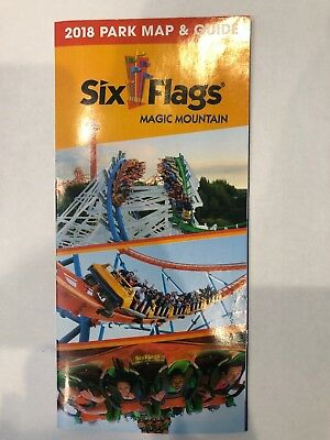 Six Flags Magic Mountain 2018 Park Map and Guide