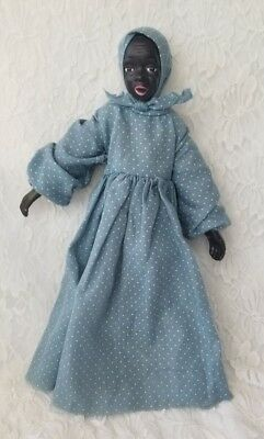 Antique African American Cloth Doll Bisque! Black Americana Handmade 16""