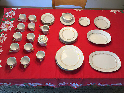 HARMONY HOUSE china dish set BOUFFANT 3678 vintage 39 pieces excellent condition