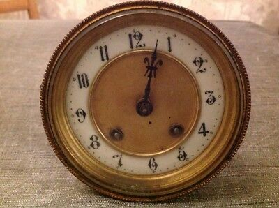 Antique French Barrel Clock Movement Dial Bezel for Restoration Bevelled Glass
