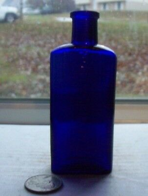 NICE BLUE RECTANGLE POISON EMBOSSED, NOT TO BE TAKEN, Base 2 oz